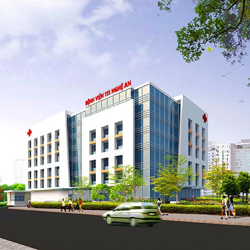 Thiết kế phương án bệnh viện 115 - Nghệ An